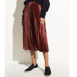 Vince Chevron Pleated Skirt